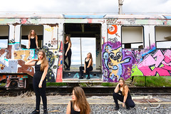 A lot of Lucía's (Jacks_ON) Tags: abandoned train station estacion de tren nikon d800 d 800 2870 28 70 jacksonphoto jackson photo wwwjacksonphotoes model modelo supermodel supermodelo railway