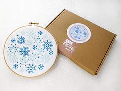 Snowflakes Embroidery Kit, DIY Christmas Decoration, Adults Craft Kit, Xmas Gift For Her, Winter Hoop Art, Stocking Stuffer, Mindfulness Kit by OhSewBootiful (ohsewbootiful) Tags: embroidery etsy etsyuk gifts giftsforher homedecor hoopart fiberart handembroidery handmade etsyseller embroideryhoop shophandmade handmadegifts decor wallhanging bestofetsy