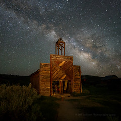 Bodie Firehouse With June Milky Way (Jeffrey Sullivan) Tags: bodie state historic park milkyway bodiestatehistoricpark abandoned american wild west mining ghost town monocounty bridgeport california usa landscape nature night photography workshop canon eos 6d photo copyright 2017 jeffsullivan june allrightsreserved
