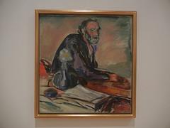 DSCN9149 _ Man with Bronchitis, 1920, Edvard Munch, SFMOMA (Matthew Felix Sun) Tags: sanfrancisco sfmoma museum munch edvardmunch exhibition july 2017 betweentheclockandthebed