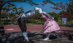 2017 - Korea - Jeju Loveland  - 7 of 14 (Ted's photos - For Me & You) Tags: 2017 cropped jeju korea nikon nikond750 nikonfx southkorea tedmcgrath tedsphotos vignetting loveland jejuloveland kissing couple two duo pair kiss