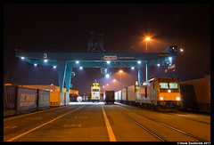 Rheincargo DE 803, Rotterdam Waalhaven 21-01-2017 (Henk Zwoferink) Tags: bombardier traxx haven hafen rheincargo hgk de803 rc irp independent rail partner nmbs blogistics lineas rsc rotterdam waalhaven de service center