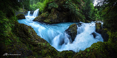 Spirit Falls- bucket list... Check! (Matt Straite Photography) Tags: waterfall water stream river color trees forest trail hike oregon gorge columbiarivergorge columbia canon panorama