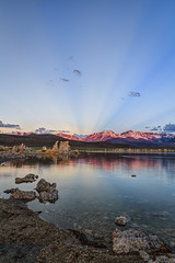 Anti-Crepuscular Rays and Alpenglow (Jeffrey Sullivan) Tags: photography easternsierra monocounty leevining california sunset canon eos 6d landscape nature night travel photo copyright 2017 june jeff sullivan mono lake eastern sierra sunrise