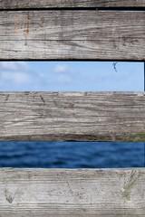 DT KB (abbey j) Tags: boardwalk pier fortislandtrail citruscounty florida gulf water sky blue board wood three carve initials horizontal carving graffiti grey gray