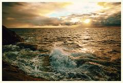 (Frank S. Schwabe) Tags: sunset summer ocean waves clouds cloudy coast atlantic karihola kristiansund nordmøre norway ef24mmf28isusm canon 6d midnightsun shore