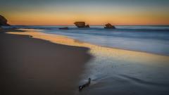 That Way  DSC_5777 (BlueberryAsh) Tags: anglesea fff aireysinlet beach sunset sand rocks ocean reflections stormscloudssunsetsunrise sea seascape australianseascape nikond750 nikon24120 leefilter 6stopper