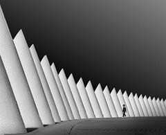 Cone (TS446Photo) Tags: architecture monochrome street shapes tone person travel