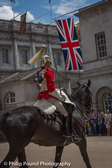 Horse Guard on Horseback (Philip Pound Photography) Tags: changingtheguard householdcavalry britisharmy britishsoldiers queenshouseholdcavalry horseguardsparade london soldiers uniform pomp ceremony pageantry