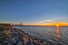 Replot bridge (Arttu Uusitalo) Tags: replot raippaluoto ostrobothnia finland summer night evening sea seaside seashore bridge wideangle 14mm samyang canon eos 5d mkiv landscape sun sunset