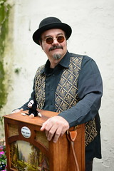 Barrel Organ player (olympusjohn) Tags: busker skipton barrelorgan street portrait musician nikon d7100 35mm