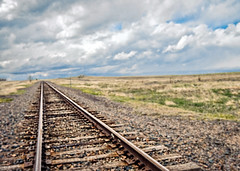 The Way West (Pete Zarria) Tags: colorado rails west high plains kansas