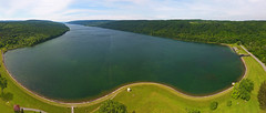 Hemlock Lake Aerial Pano (Matt Champlin) Tags: lake flx water conservation environment pano drone aerial dronephotography aerialphotography dji djiphantom4 phantom4 hemlock hemlocklake fingerlakes summer adventure outdoors drinkingwater cleanwater untouched