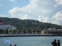 FELIZ MARTES DE NUBES AMIG@S. (CarmenCordero1949) Tags: nubes cielo mar barceloneta montjuic carmen