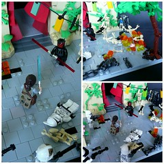 Star Wars Battlefront II - Theed (Details) (KevFett2011) Tags: kevfett2011 starwars battlefront bricks hobby art artist lego build moc 2017 ea multiplayer game darthmaul rey droids seperatists clones phase 1 theed streets landscape plants battle explosion