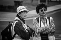 Body language (Frank Fullard) Tags: frankfullard fullard bodylanguage arms candid street portrait castlebar walk mayo ireland backpack highvis
