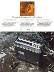 General Electric Radio Recorder, 1970 ad (Tom Simpson) Tags: radio cassetteplayer cassetterecorder music vintage electronics ad ads advertising advertisement vintagead vintageads 1970 1970s
