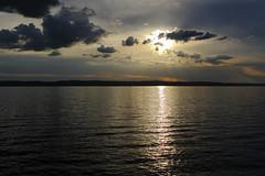 Only seconds away from a heavy shower (J. Roseen) Tags: sunshine sunset sunlight solljus solsken solnedgång clouds moln lake sjö vättern night kväll eos7dmkii ef2470mm28l sverige sweden scandinavia skandinavien norden nordic