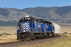 Helena switch out on the main (Moffat Road) Tags: montanaraillink mrl helenaswitch emd gp9 geep 109 winstonhill townsend curve localfreight local railroad mrlsecondsubdivision 2ndsub montana mt