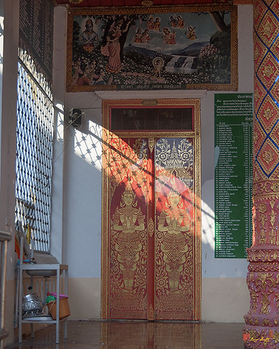 Wat Chetuphon Phra Wihan Left Side Doors (DTHCM1322)