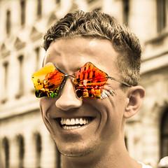 Star Man (DobingDesign) Tags: lgbt gaypride2017 prideinlondon sunglasses reflection colours fun happy loveislove bokeh depthoffield color pride