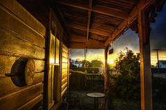 In my home town (Kevin_Jeffries) Tags: golden light porch cottage rustic sunlight kevinjeffries d7100 nikon nikkor veranda house reflection cabin morning winter newzealand frost natural old garden emotions mood serene weather lines sky scenic texture gold timber outlook view sunrise