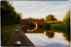 Crane's Lock (Peter Leigh50) Tags: canon 6d eos canal bridge lock wistow grand union reflection sky rural countryside trees towpath water wet sunshine shadows shade contrast
