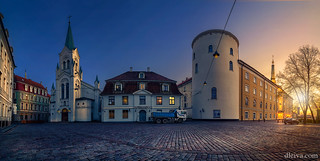 Riga Castle at sunset