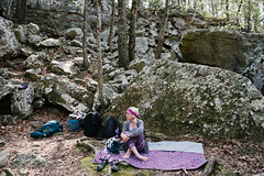 Brittany (BurlapZack) Tags: pentaxk1 pentaxhddfa28105mmf3556eddcwr vscofilm pack01 fernar roadtrip boulders woods wilderness campvibes camping rockclimbingtrip rockclimber blanket nature explore forest trees weekendwarriors wideangle backpacks hike hiking hiker