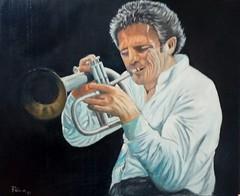 il trombettista Paolo Fresu (cicipeis) Tags: cicipeisart paolofresu musicista musicart sardegnaquasiuncontinente sardegna dipingerelasardegna gentedisardegna