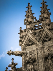 Very flamboyant (Tigra K) Tags: france fr centre 2010 architecture carving church city face gargoyle gothic ornament roof spire art