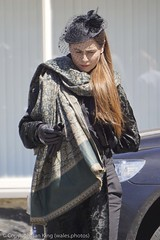 Tara Fitzgerald Filming 'Requiem' (BBC TV Series) in Dolgellau (wales.photos) Tags: bbc netflix requiem television wales