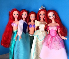 Mattel Ariel Squad (Richard Zimmons) Tags: mattel disney store doll barbie ariel little mermaid 1997 princess