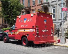 FDNY Ladder 111 Chemical Protective Clothing Utility Truck, Bedford, Brooklyn, New York City (jag9889) Tags: 2017 20170615 architecture bedstuy bedford bedfordstuyvesant bravest brooklyn building cpc car chemicalprotectiveclothing e214 engine214 fdny firedepartment firedepartmentofthecityofnewyork firehouse firestation firefighter firstresponder ford hancockstreet house kingscounty ladder111 ny nyc newyork newyorkcity newyorkcityfiredepartment newyorksbravest nuthouse outdoor ridgewood supportvehicle truck usa unitedstates unitedstatesofamerica vehicle jag9889