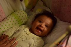 Baby (Vidya...) Tags: smile girl infant portrait joy innocence eyes nose cheeks divinity bliss night low light shot