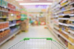 (City of Austin Office of Sustainability) Tags: supermarket store interior retail aisle background shopping shelf market grocery goods perspective blur customer consumer business products building consumption motion big bag box department commerce row buy purchase variety hypermarket blurry product empty mall cart