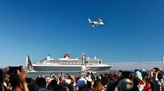 25-06-2017 QUEEN MARY 2 + A380 dans le port de St Nazaire
