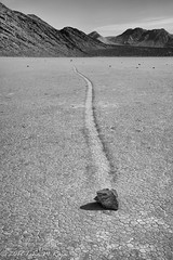 The rocks race through time and place (taharaja) Tags: cactus california deathvalley desert furnacecreek ghosttown jeeping lowestpoint nationalpark offroad oldtown racetrack sealevel zabriskiepoint lakebed movingstones slatflats
