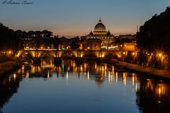Tramonto sul Tevere (antonio.canoci) Tags: roma città del vaticano tevere fiume riflessi canon 70d 1585usm