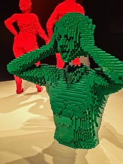 Green Torso by Lego artist Nathan Sawaya (mharrsch) Tags: greentorso confounded amazed shocked lego sculpture art nathansawaya artofthebrick exhibit omsi oregonmuseumscienceandindustry oregon mharrsch