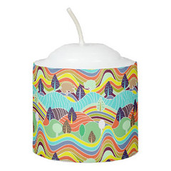 Cute colorful forest patterns Candle (Forart Gift) Tags: cute colorful forest patterns candle bougie vela kerze キャンドル kaars candela lys stearinlys ljus