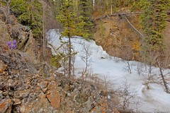 The Waterfall Still Covered by Ice (MIKOFOX ⌘ Thanks 4 Your Faves!) Tags: canada showyourexif yukon ice xt2 waterfall learnfromexif rocks landscape provia gorge crocus creek may valley mikofox spring fujifilmxt2 xf18135mmf3556rlmoiswr