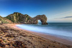 Durdle Door after sundown (BitRogue) Tags: 1635mm d800 dorset durdledoor england jurassiccoast lulworth nikon beach coast landscape longexposure sea sunset westlulworth unitedkingdom gb