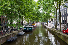Waterfront Living (PJ Reading) Tags: amsterdam city netherlands nl nederland stad europe holland people tourist tourism famous attraction pretty architecture canal water house home dwelling