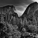 Mount Broderick and Liberty Cap (Black & White, Yosemite National Park)