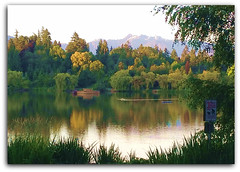 Sunset on Lost Lagoon (FernShade) Tags: vancouver stanleypark lostlagoon scenery scenic nature outdoors lake water