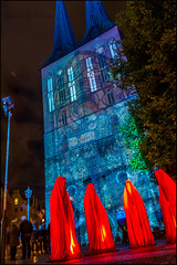 St. Nicholas Church & Guardians of Time (KSDiaz) Tags: berlin germany festival lights nightscape landscape after dark guardians light night projector design color guardiansoftime time mysterious