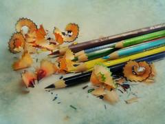 colour fantasy (Ani Carrington) Tags: birthdays birth day pencils color colors colour colours stilllife textured