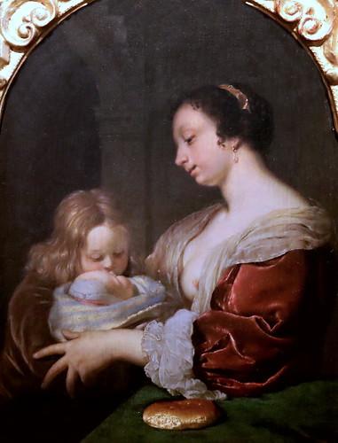 IMG_4004P Franz van Mieris l'Ancien. 1635-1681. Leiden.  La bonne mère.  The good mother.   vers 1670. Turin Sabauda.