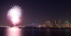 Happy 4th of July (Dhari .K ALFawzan) Tags: ngc happy ca sandiego reflection water sea cityscape colors canon fireworks night bay city independenceday usa 4th july